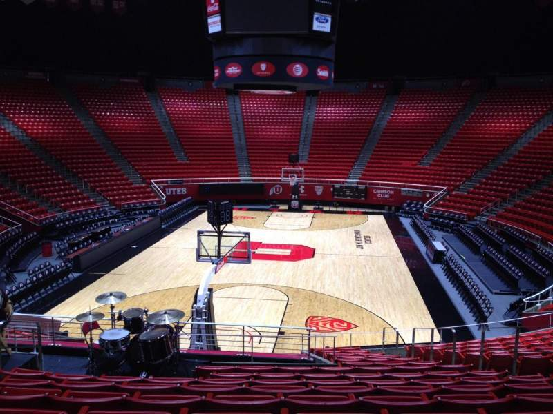 Seating view for Jon M. Huntsman Center Section F Row 19 Seat 7