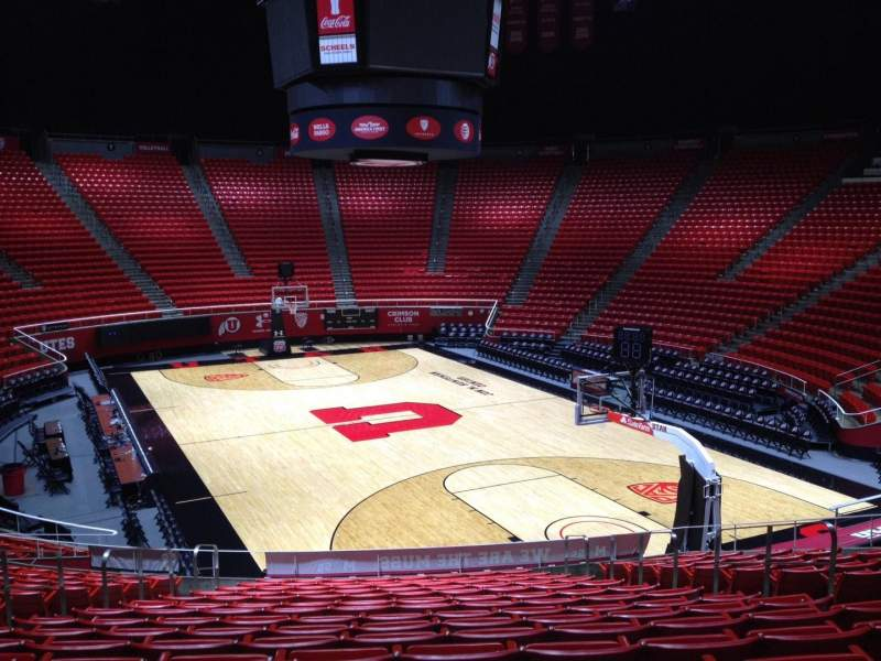 Seating view for Jon M. Huntsman Center Section H Row 19 Seat 7