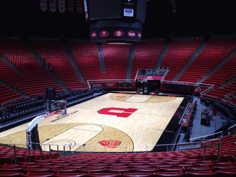 Seating view for Jon M. Huntsman Center Section S Row 19 Seat 7