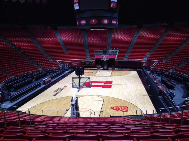 Seating view for Jon M. Huntsman Center Section T Row 19 Seat 7