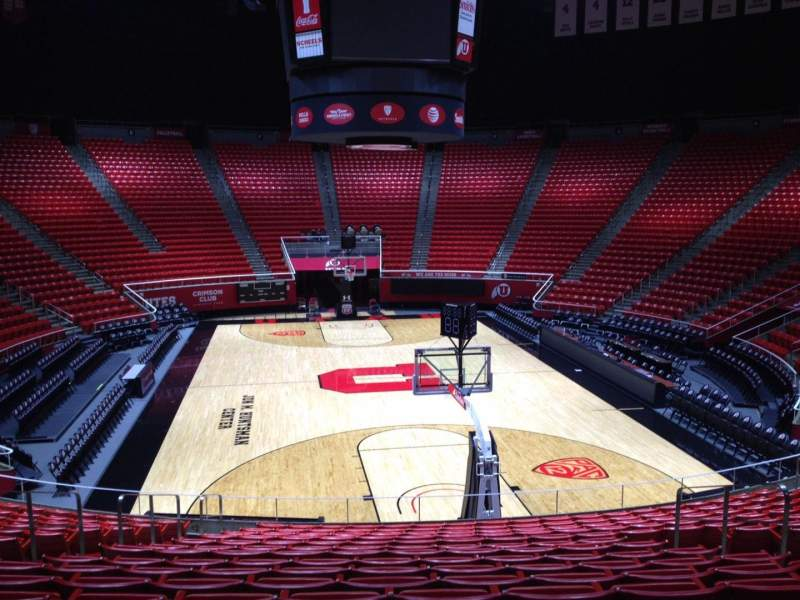 Seating view for Jon M. Huntsman Center Section U Row 19 Seat 7