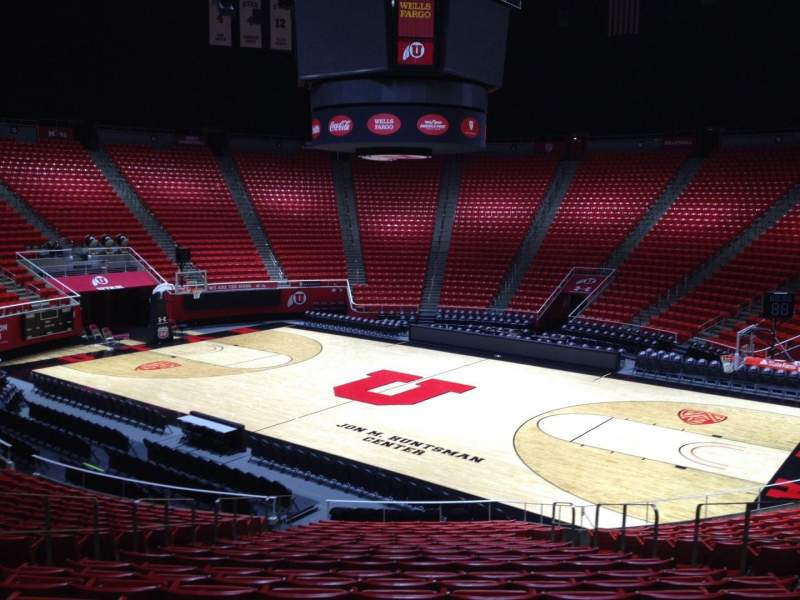 Seating view for Jon M. Huntsman Center Section X Row 19 Seat 7
