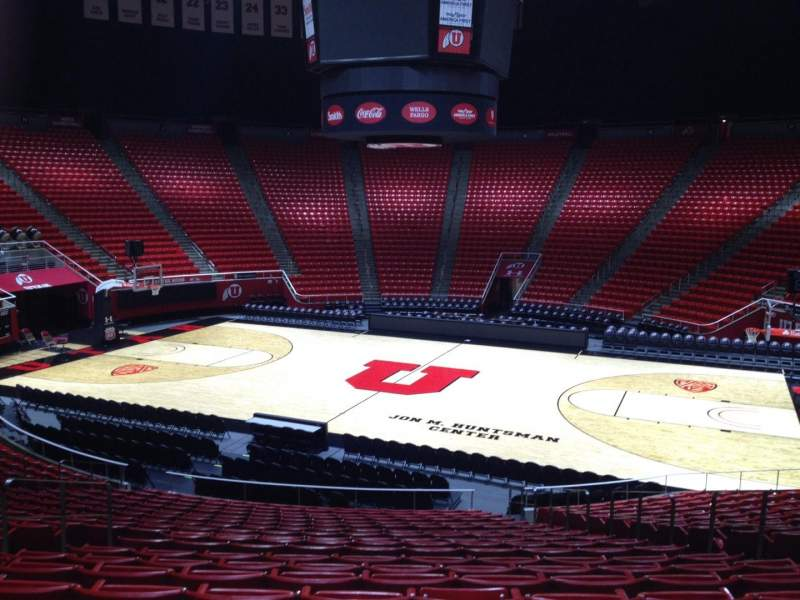 Seating view for Jon M. Huntsman Center Section Y Row 19 Seat 7