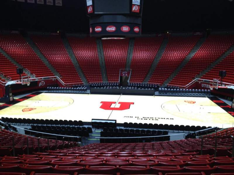 Seating view for Jon M. Huntsman Center Section Z Row 19 Seat 7
