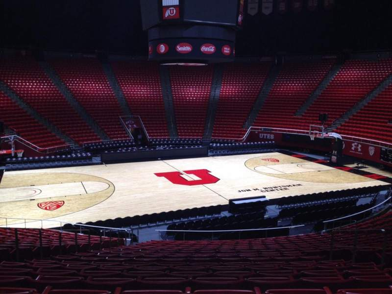 Seating view for Jon M. Huntsman Center Section B Row 19 Seat 7