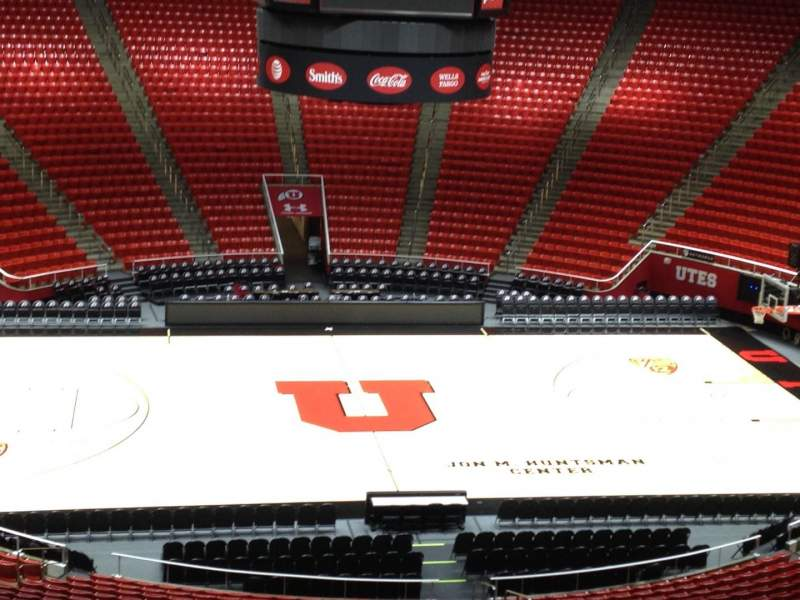 Seating view for Jon M. Huntsman Center Section aa Row 1 Seat 18