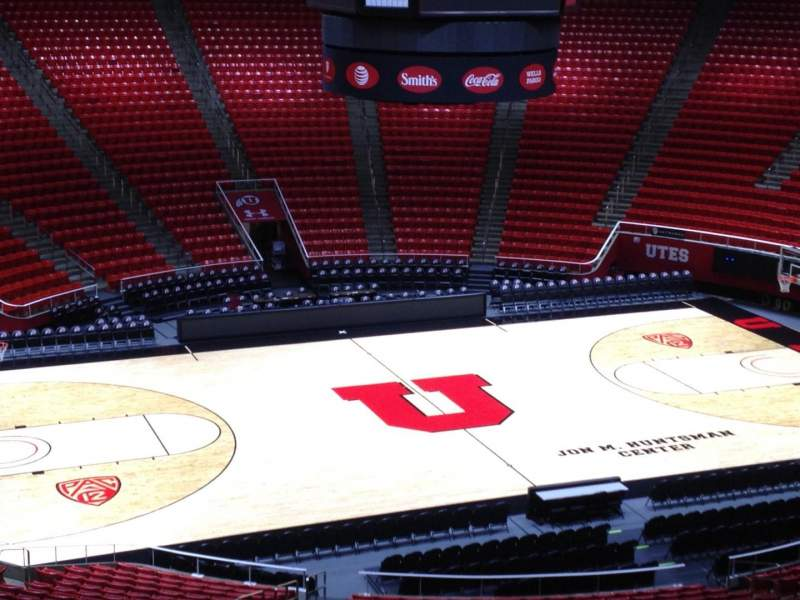Seating view for Jon M. Huntsman Center Section bb Row 1 Seat 18