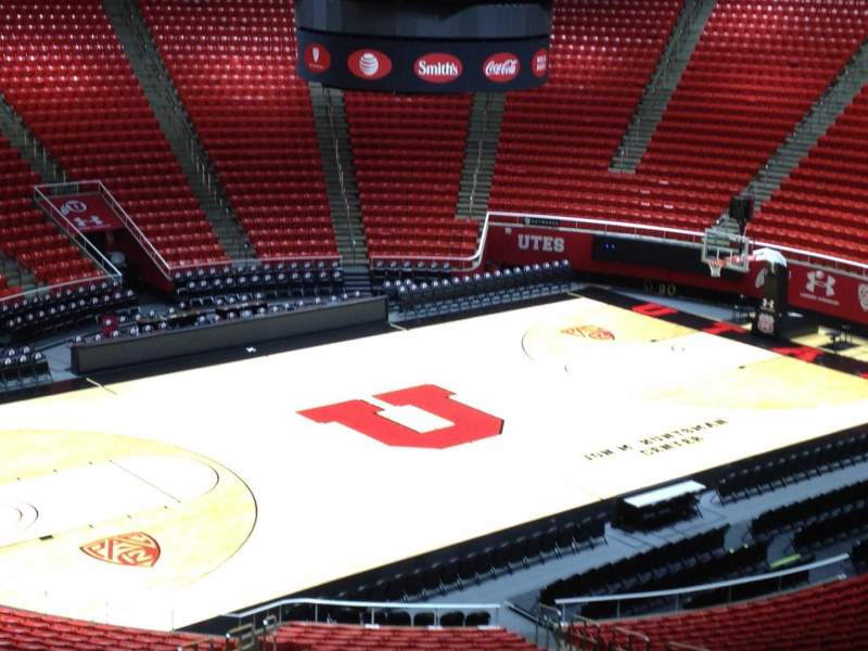 Seating view for Jon M. Huntsman Center Section cc Row 1 Seat 18