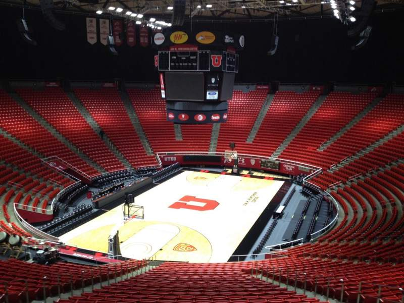 Seating view for Jon M. Huntsman Center Section ee Row 1 Seat 18