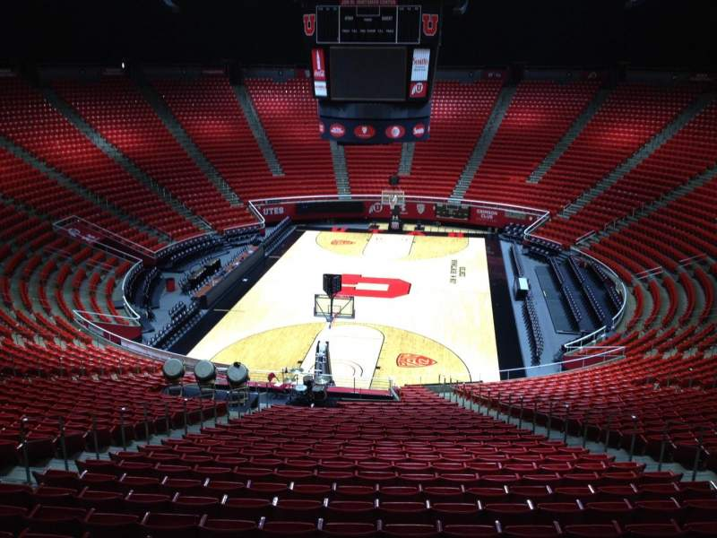 Seating view for Jon M. Huntsman Center Section ff Row 1 Seat 18
