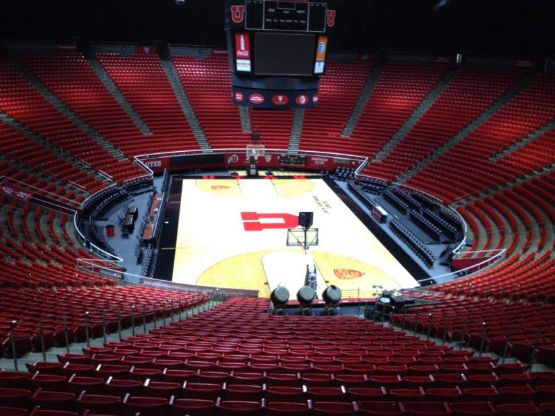 Seating view for Jon M. Huntsman Center Section gg Row 1 Seat 18