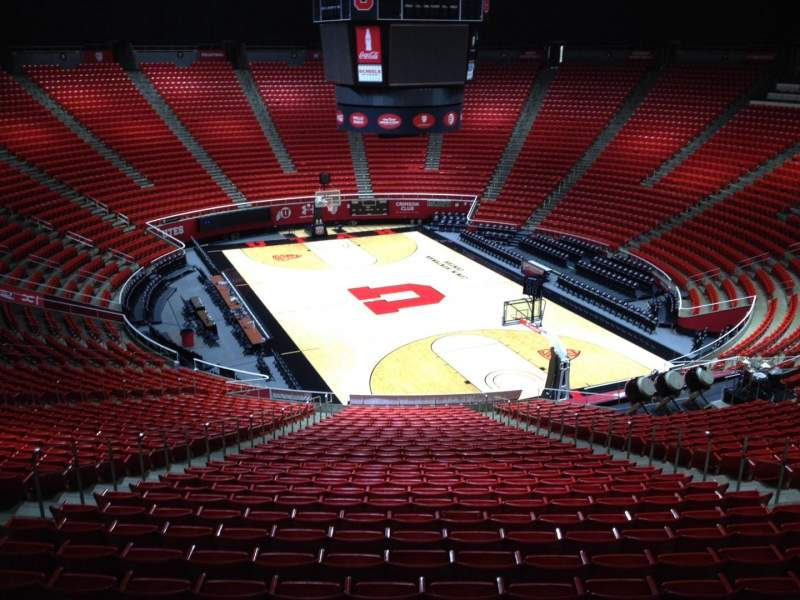 Seating view for Jon M. Huntsman Center Section hh Row 1 Seat 18
