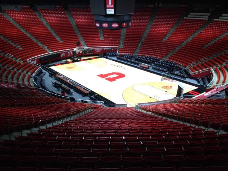 Seating view for Jon M. Huntsman Center Section jj Row 1 Seat 18