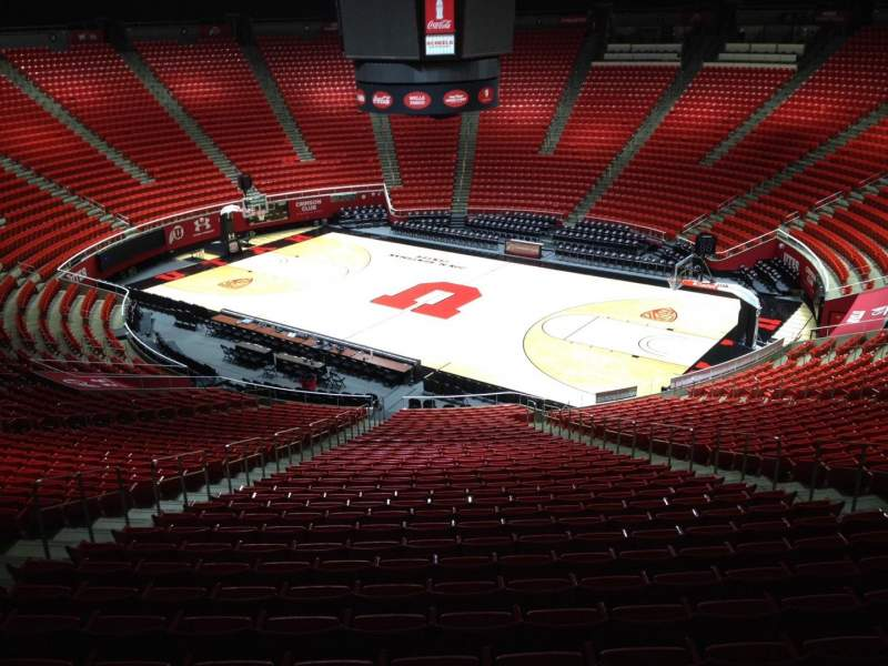 Seating view for Jon M. Huntsman Center Section kk Row 1 Seat 18