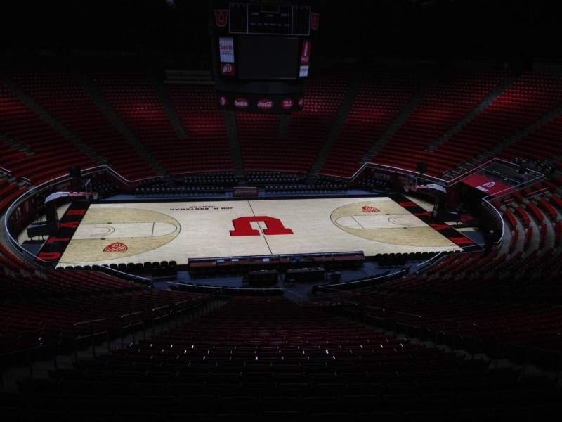 Seating view for Jon M. Huntsman Center Section nn Row 1 Seat 18