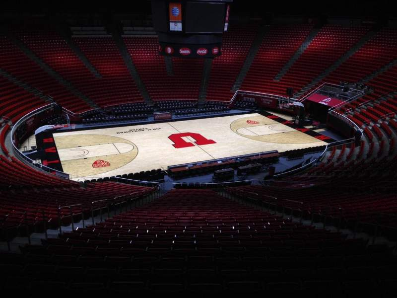 Seating view for Jon M. Huntsman Center Section pp Row 1 Seat 18