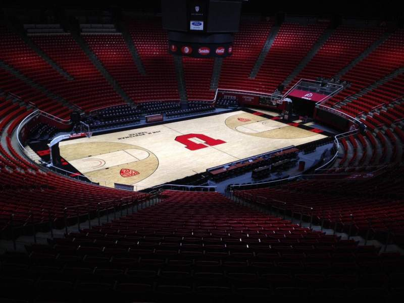 Seating view for Jon M. Huntsman Center Section qq Row 1 Seat 18