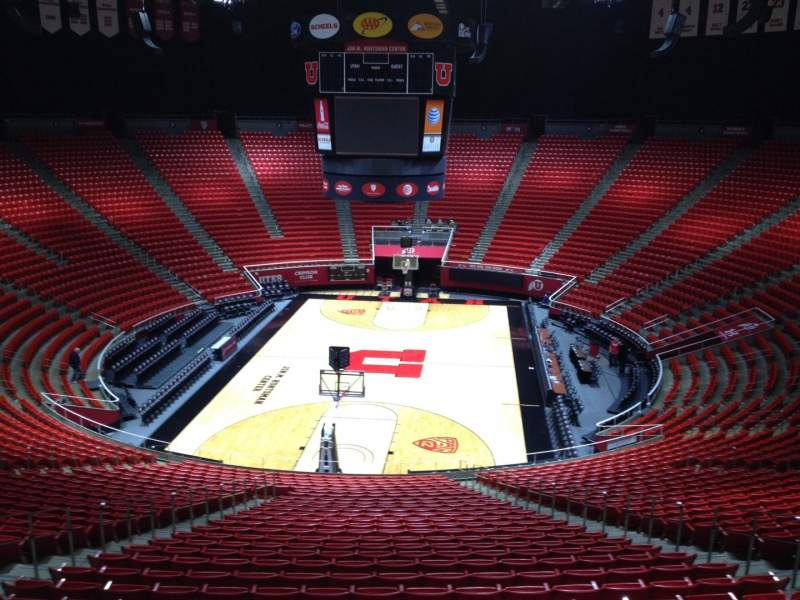 Seating view for Jon M. Huntsman Center Section tt Row 1 Seat 18
