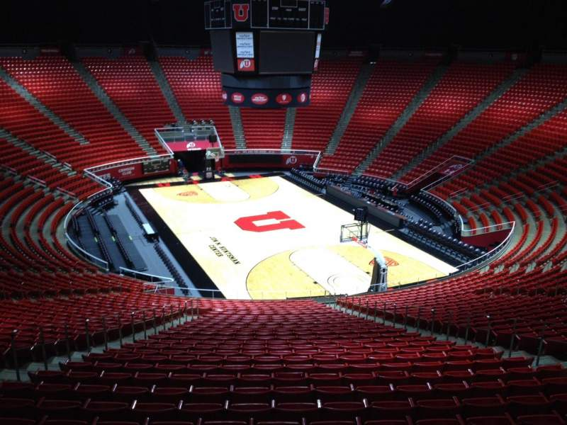 Seating view for Jon M. Huntsman Center Section vv Row 1 Seat 18