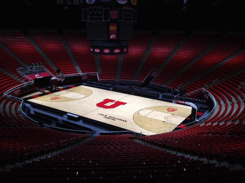 Seating view for Jon M. Huntsman Center Section xx Row 1 Seat 18