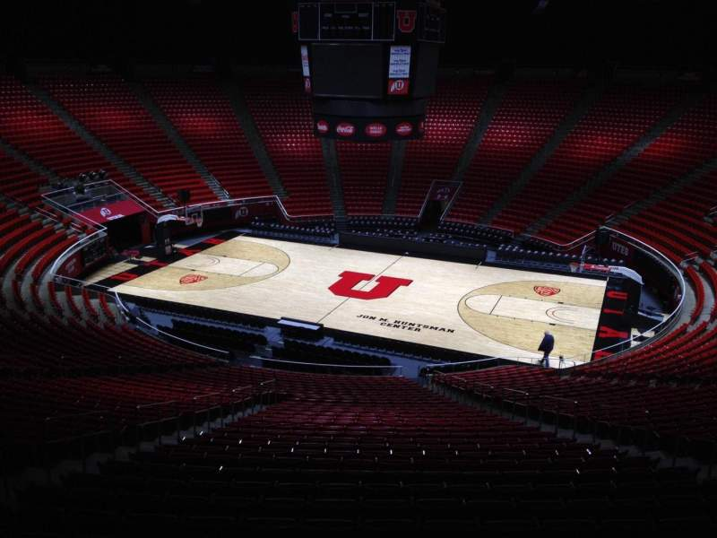 Seating view for Jon M. Huntsman Center Section yy Row 1 Seat 18