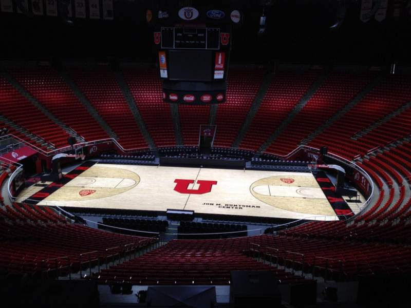 Seating view for Jon M. Huntsman Center Section zz Row 1 Seat 18