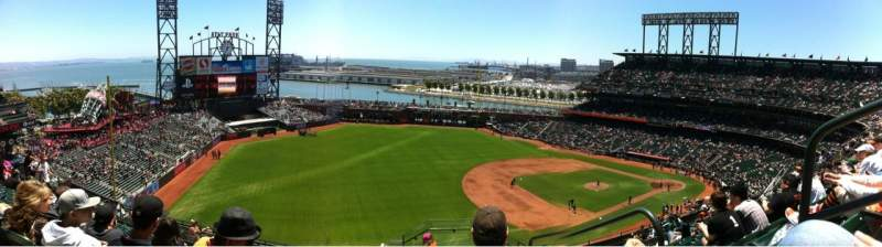 Seating view for AT&T Park Section 328 Row 8 Seat 2