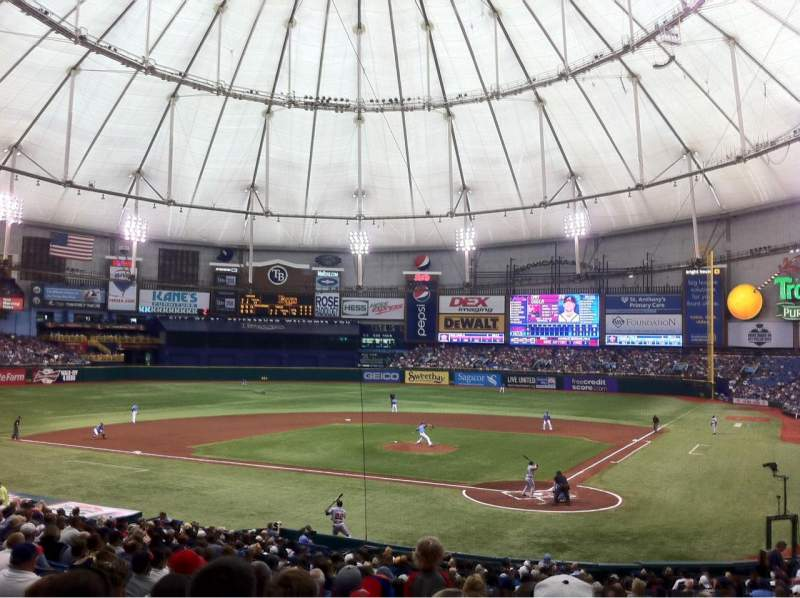 Seating view for Tropicana Field Section 105 Row HH Seat 7
