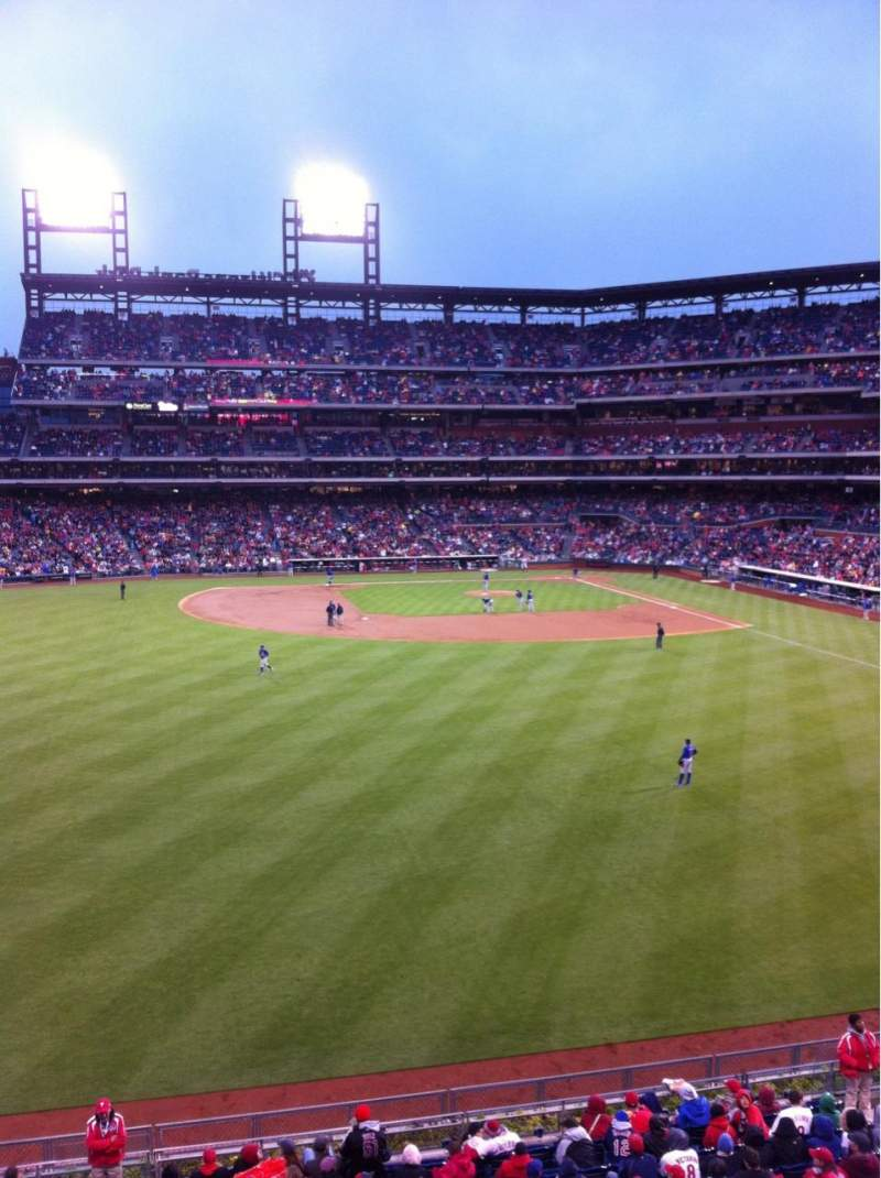 Seating view for Citizens Bank Park Section 244 Row 1 Seat 6