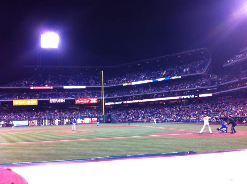 Seating view for Citizens Bank Park Section 130 Row 2 Seat 2