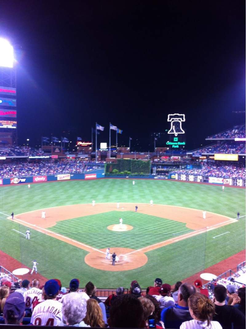 Seating view for Citizens Bank Park Section 222