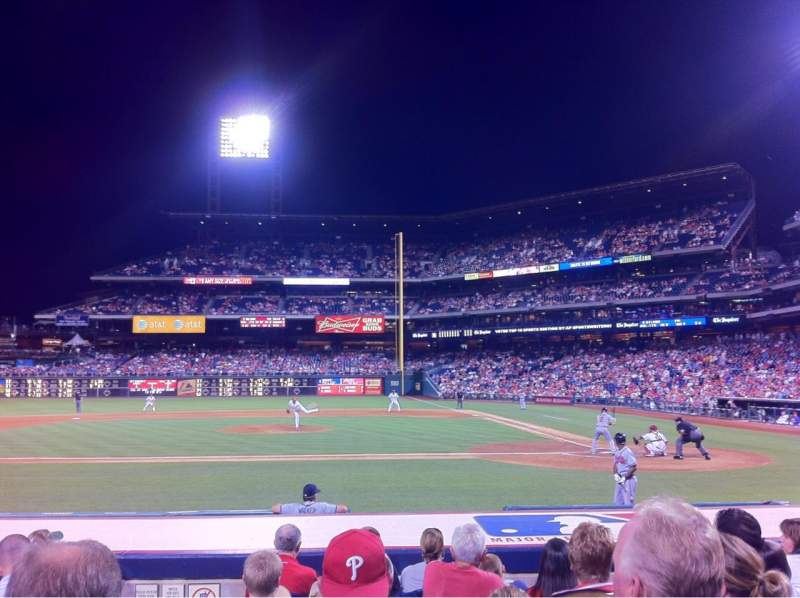 Seating view for Citizens Bank Park Section 130 Row 9 Seat 2