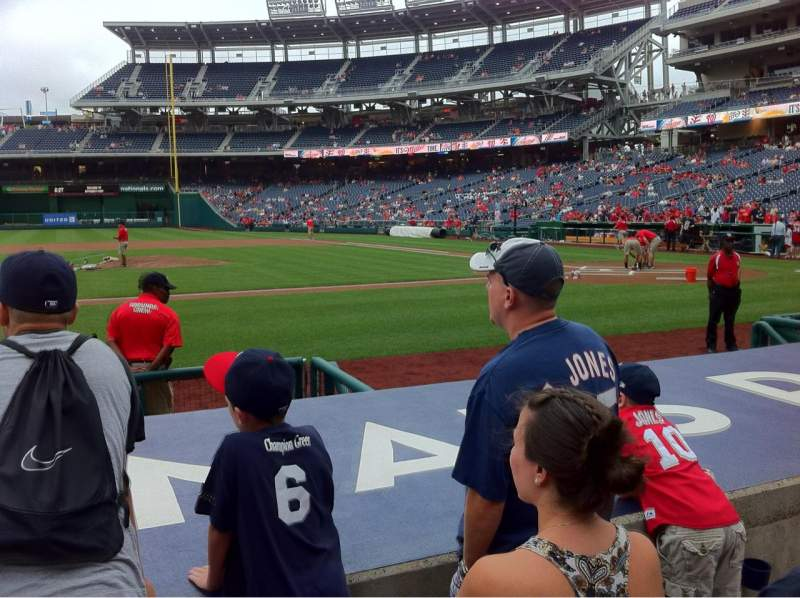 Seating view for Nationals Park Section 117 Row F Seat 18