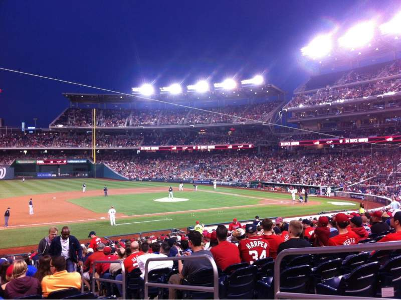 Seating view for Nationals Park Section 114 Row HH Seat 3