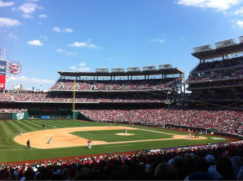 Seating view for Nationals Park Section 114 Row PP Seat 18