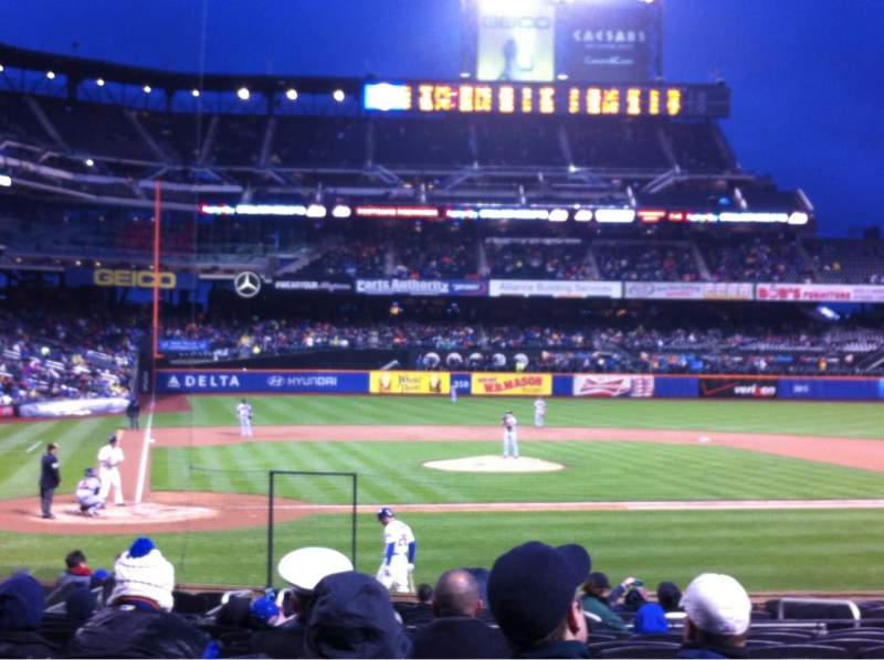 Seating view for Citi Field Section 12 Row 18 Seat 8