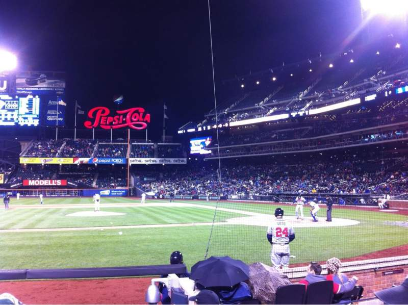 Seating view for Citi Field Section 121 Row 3 Seat 1