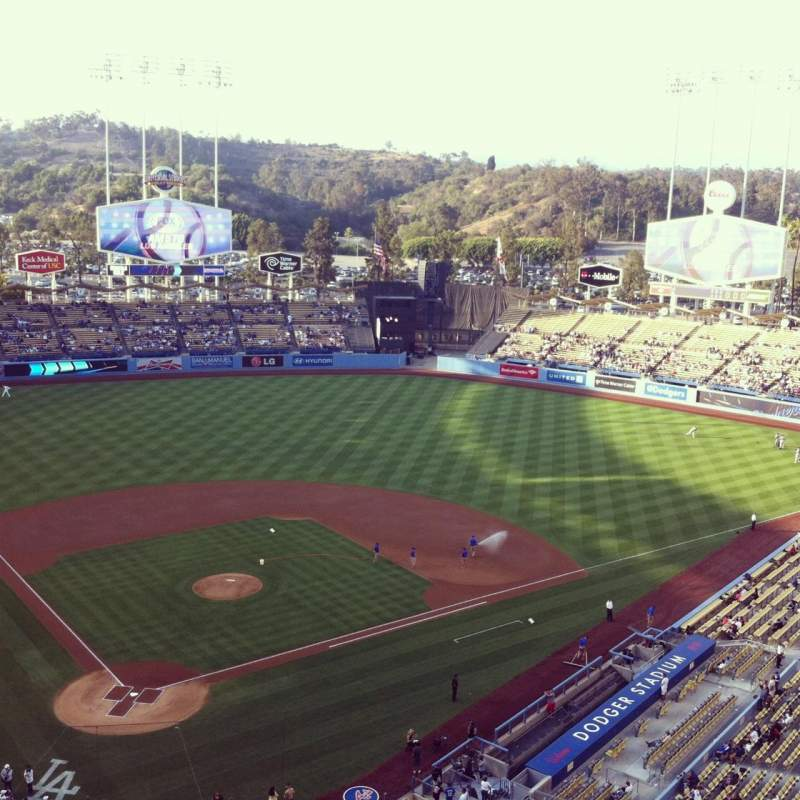 Seating view for Dodger Stadium Section 6TD Row A Seat 3