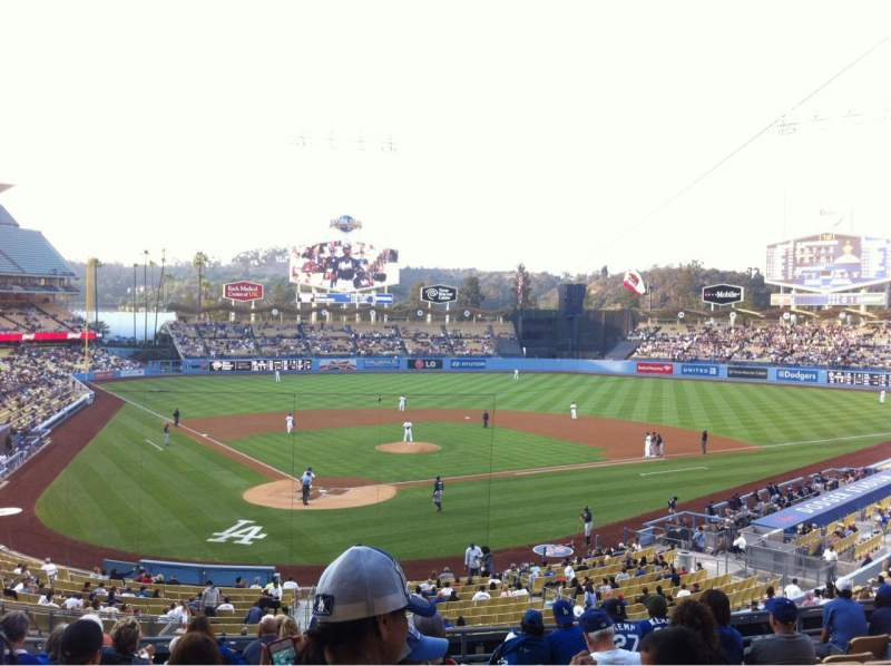 Seating view for Dodger Stadium Section 110LG Row L Seat 6