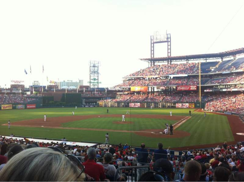 Seating view for Citizens Bank Park Section 126 Row 27 Seat 10