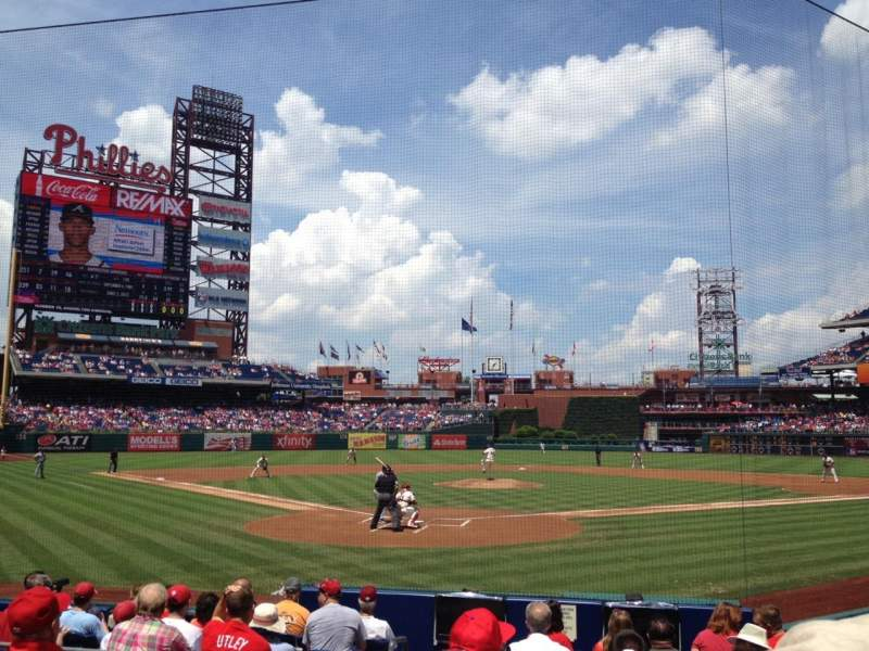 Seating view for Citizens Bank Park Section E Row 11 Seat 12