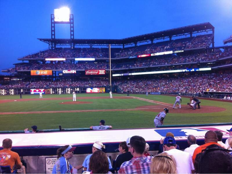 Seating view for Citizens Bank Park Section 129 Row 7 Seat 8