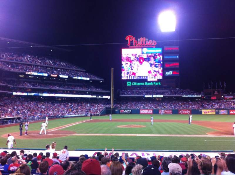 Seating view for Citizens Bank Park Section 117 Row 15 Seat 14