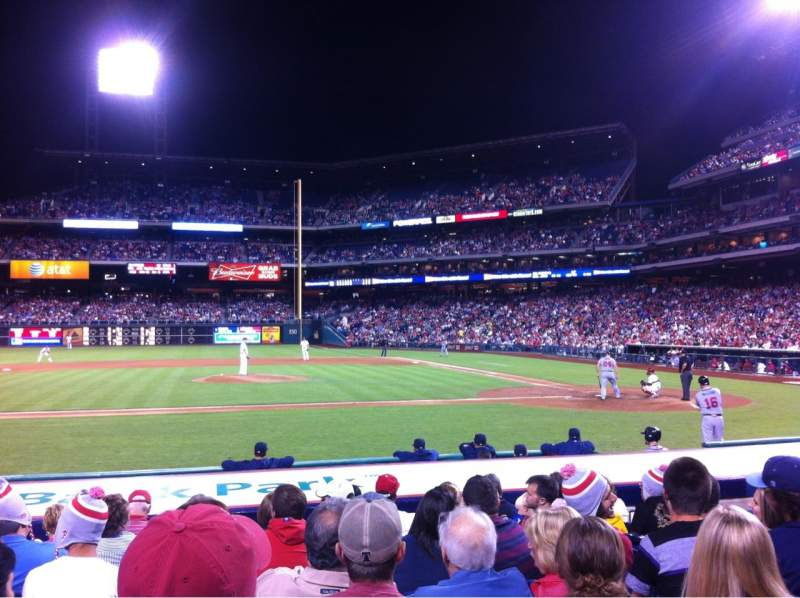 Seating view for Citizens Bank Park Section 130 Row 9 Seat 8