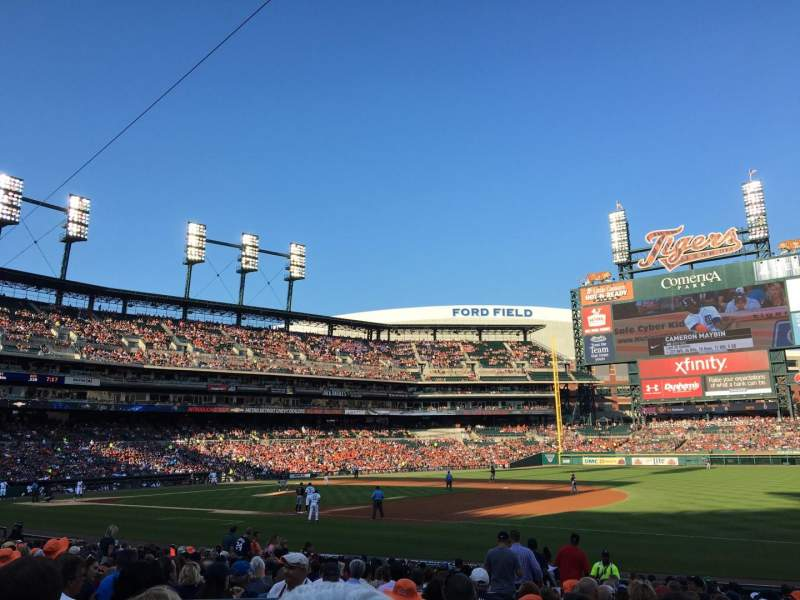 Seating view for Comerica Park Section 117 Row 23 Seat 19