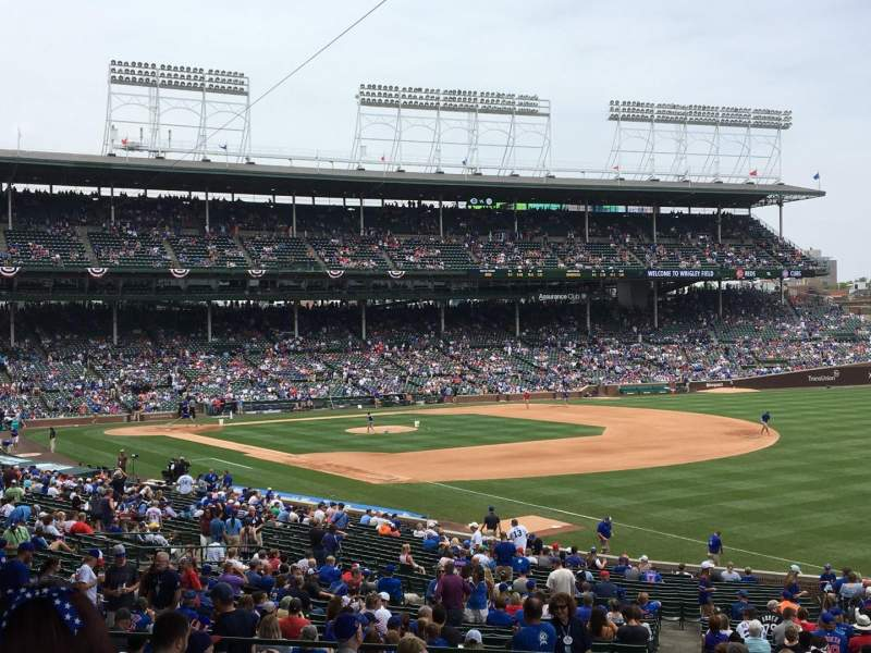 Seating view for Wrigley Field Section 239 Row 11 Seat 105