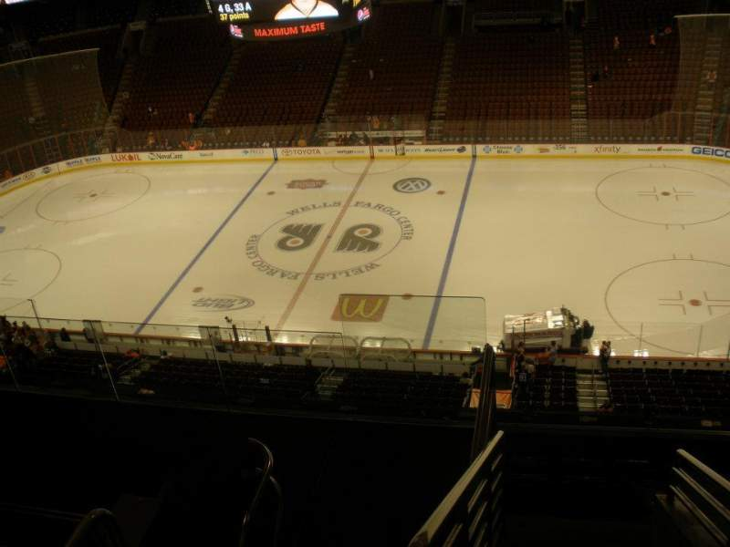 Seating view for Wells Fargo Center Section 202 Row 8