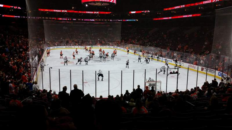 Seating view for Wells Fargo Center Section 106 Row 19 Seat 6