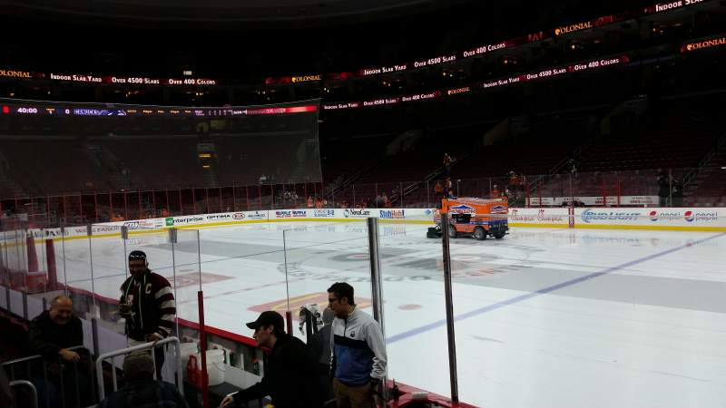 Seating view for Wells Fargo Center Section 103 Row 6 Seat 1