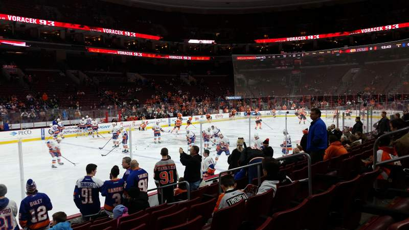 Seating view for Wells Fargo Center Section 111 Row 9 Seat 10